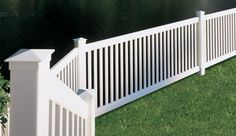 Affordable picket vinyl PVC fence panels for do-it-yourself homeowners. Save on vinyl fence panels. Front Yard Fence, Pool Fence, Backyard Fences, Pvc Pool, Fence Garden, Vinyl Picket Fence, Vinyl Fence Panels, Vinyl Fencing, Vinyl Pool
