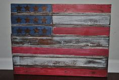 American Flag Wooden Wall decor by EmmieLooo on Etsy, $145.00