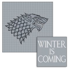 Game of Thrones. Two Cross Stitch patterns House by LetsMakeCrafts