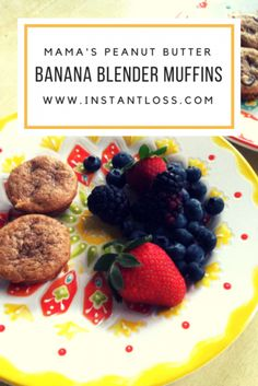 Mama's Almond Butter Banana Blender Muffins - Instant Loss - Conveniently Cook Your Way To Weight Loss Whole Food Diet, Whole Food Recipes, Healthy Recipes, Healthy Food, Healthy Dinners, Fall Recipes, Diet Recipes, Healthy Eating, Ninja Recipes