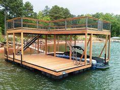 IPE Decking, IPE Capped rails, double decker, two story dock