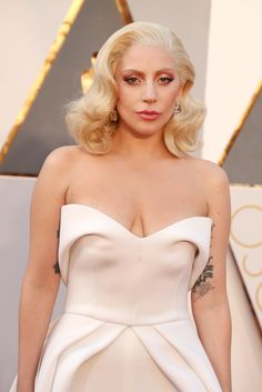 Lady Gaga rocking her tattoos at the Oscars 2016
