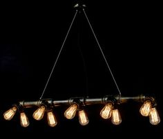 LOFT Edison bulbs and Industrial Water Pipe Pendant Lighting contemporary-pendant-lighting