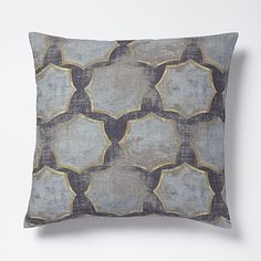 Modernist Star Raw Silk Pillow Cover #westelm - pale blue matches wall exactly.