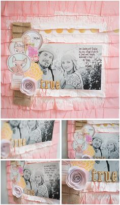 Papercrafting ideas: scrapbook layout idea. #papercraft #scrapbooking #layouts. Dear Lizzy 5th and Frolic