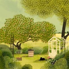 garden illustration garden illustration Down at the bottom of the garden for this weeks Hope youre all having a great weekend! via BlqfkOkhdlH Beautiful illustration by Jane Newland Kunst Portfolio, Garden Illustration, Medical Illustration, Naive Art, Poster, Garden Art, Beautiful Gardens, Art Inspo, New Art