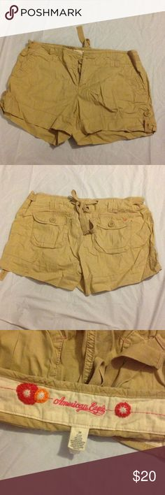 AE cargo shorts ♥️♥️ Super cute cargo shorts-khaki by American Eagle Outfitters American Eagle Outfitters Shorts