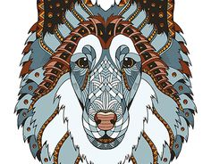 """Check out new work on my @Behance portfolio: """"Rough collie head zentangle stylized. Ornate. Freehand"""" http://be.net/gallery/35251949/Rough-collie-head-zentangle-stylized-Ornate-Freehand"""