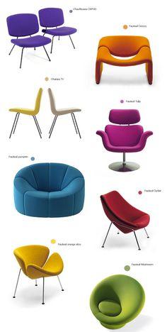 Paulin chairs - orange slice in tan leather ❤️