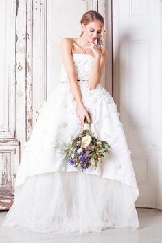 The Castalia Dress from The Nina Rose Bridal 2016 Campaign. Nina Rose is a London based luxury silk wedding dress designer. Shot by Amelia Allen photography.