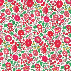 A beautiful floral print, Danjo from Liberty of London, here in the lovely pinks, red and green colourway. From the NEW 2014 Classics Collection Size: Fat Quarter : 45cm x 67cm, By the metre ...