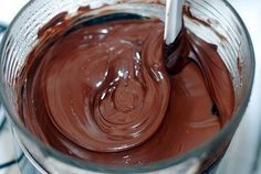 Find and save your favorite chocolate desserts. Collect your ultimate chocolate collection from milky sweet to dark decadence. Chocolate Glaze, Chocolate Desserts, Melting Chocolate, Chocolate Cream, Nutella Chocolate, Delicious Chocolate, Chocolate Tumblr, Healthy Diet Recipes, Cakes And More