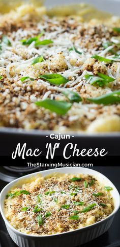 This satisfying Cajun-inspired Mac 'n' Cheese can be made from scratch in under 30 minutes -- no fake powdered cheese required! Features a video for visual learners. (Yields 8 portions).