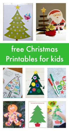 free Christmas printables for kids, Christmas coloring pages, Christmas printables for preschool