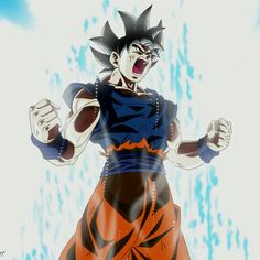 Goku ultra instinct power up #dragonballsuper