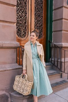 Gal Meets Glam Jumping From Winter To Spring - MDS Stripes Dress, Cuyana Trench Coat, Stubbs & Wootton Loafers, Hat Attack Bag Arab Fashion, Mod Fashion, Fashion Trends, Sporty Fashion, Fashion 2016, Fashion Clothes, Fashion News, Fashion Dresses, Middle Eastern Fashion