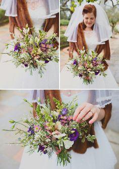 natural wild wedding bouquet flowers