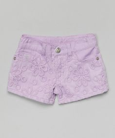 Look what I found on #zulily! Lavender Lace Shorts - Toddler & Girls #zulilyfinds