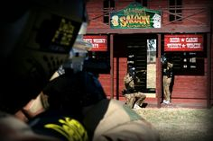 Play paintball in the Wild West village!