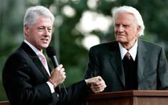 Rev. Billy Graham and President Clinton