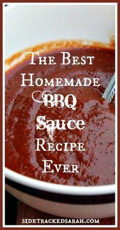 The SUPER Easy BBQ Sauce Recipe - SidetrackedSarah.com