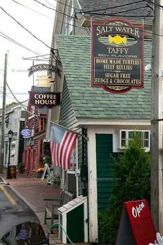 Kennebunkport, Maine - Dock Square Coffee House has awesome coffee and the Candy Man has the best home made candy  treats! There are many great shops  Restaurants!