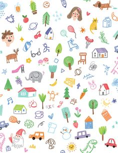Crayon Doodles (Pattern)