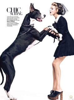 "Anja Rubik featured in the Harper's Bazaar USA editorial ""Hits From The Collections"" from January 2010 , showing Chanel"