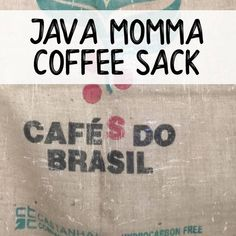 Purchase one of Java Momma's coffee sack for your own crafting fun! Check out all of the fun ideas on our BLOG.SHIPPING INCLUDED