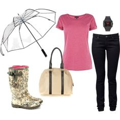 Rainy day, created by yvonne2214 on Polyvore