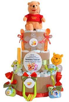 tort z pampersów, narodziny, roczek, 11 dodatków!