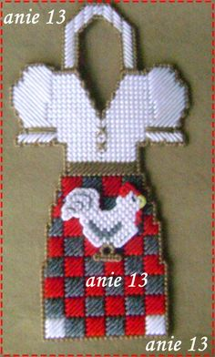 Rooster Dish Bottle Apron