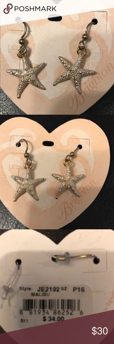 """NWT Brighton Starfish Malibu earrings Elegant rose """"gold"""" starfish earrings by Brighton. These pretty earrings have never been worn. They have a nice sparkle to them. Accessories"""