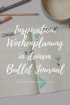 Hol dir Ideen für deine Wochenplanung im Bullet Journal. #bulletjournal #weeklyspread #wochenplanung #wochenübersicht #bujoinspiration