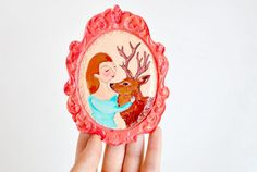 Friends wall hanging decoration sculpture and home by ireneagh, €27.00