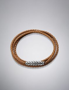 David Yurman Chevron™ Wrap Bracelet, Camel Leather | Brown & Co. Jewelers @Lo Brown & Company Jewelers