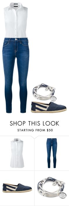 """""""Working Mum"""" by charlotteh2001 ❤ liked on Polyvore featuring Lands' End, Frame Denim, TOMS, Lizzy James and plus size clothing"""