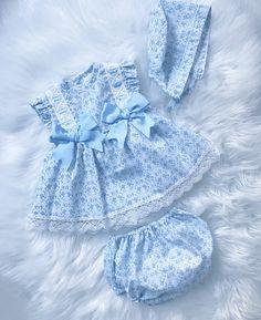 Baby Girl 3 Piece Dress Set For Spring/Summer 2019.   Sizes 3-36 Months   #babygirl #Babygirldresses #christening #spring/summer