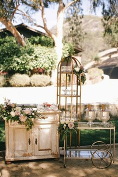 Champagne station- incorporating some outdoor furniture pieces might help extend the venue