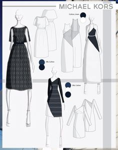 Collection of Dresses for Michael Kors on Behance