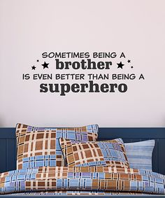 Brother Superhero Wall Quote