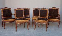 Ensemble de fauteuils et chaises de style Régence, Sarazin-Cabinet de curiosités, Proantic Objet D'art, Armchair, Display, Home Decor, Style, Antique Shops, Armchairs, Sofa Chair, Floor Space