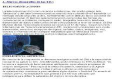 Desarrollos de las TIC