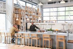 Incredible café, shop, and community space opens in Healdsburg, California. An ideal place to stop for lunch on your visit to the Sonoma and Napa valley region. Retail Interior, Cafe Interior, Healdsburg Shed, Country Bar, Wine Country, Cafe Counter, Japanese Shop, Cafe Bistro, Metal Building Homes