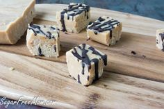 3 Ingredient Sugar-Free Peanut Butter Fudge... Have to try it out and see if the kids can tell if it's sugar free..