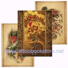 Chinese Style Tattoo Flash book 1 | Tattoo design books,tattoo magazine and tattoo flash books