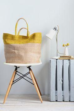 Jute bag: Yellow top
