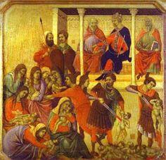 The massacre of the Holy Innocents by Duccio di Buoninsegna