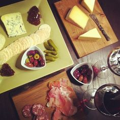 Perfect for after work Friday night tapas. The makings of a great evening in. Canadian Cheese, How To Make Cheese, Simple Pleasures, Tapas, Cheers, Eve, February, Dairy, Milk