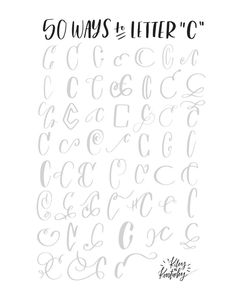 """50 ways to letter """"C"""""""